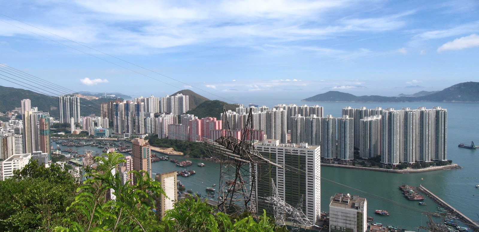 Breathtaking view of Ap Lei Chau