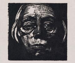 kollwitz autoretrato xilografía