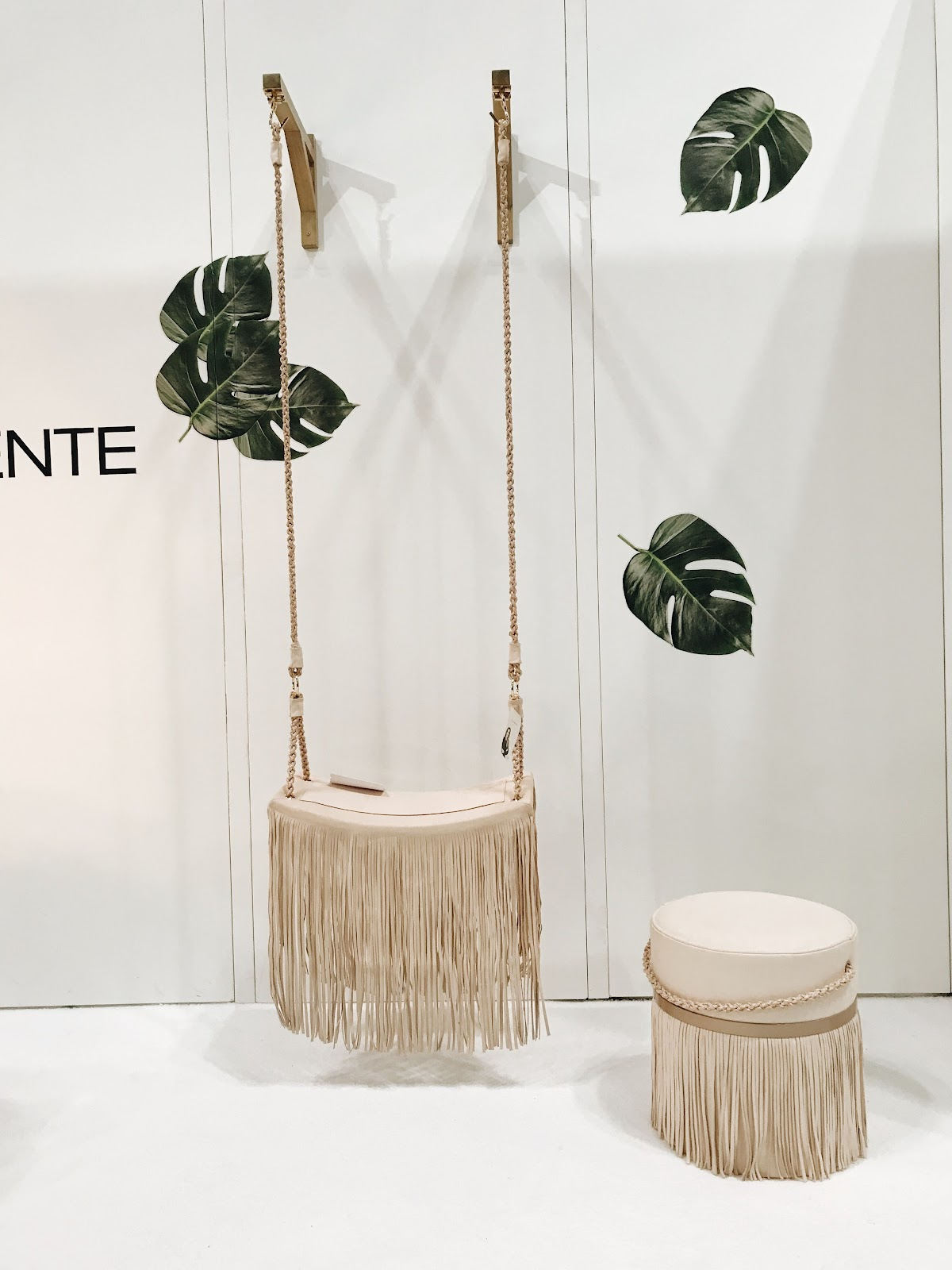ICFF international contemporary design furniture fair luxury swing indoor