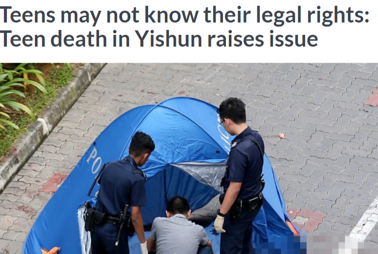 Teens may not know their legal rights  Teen death in Yishun raises issue  AsiaOne Singapore News.png