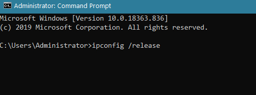 Release IP Address