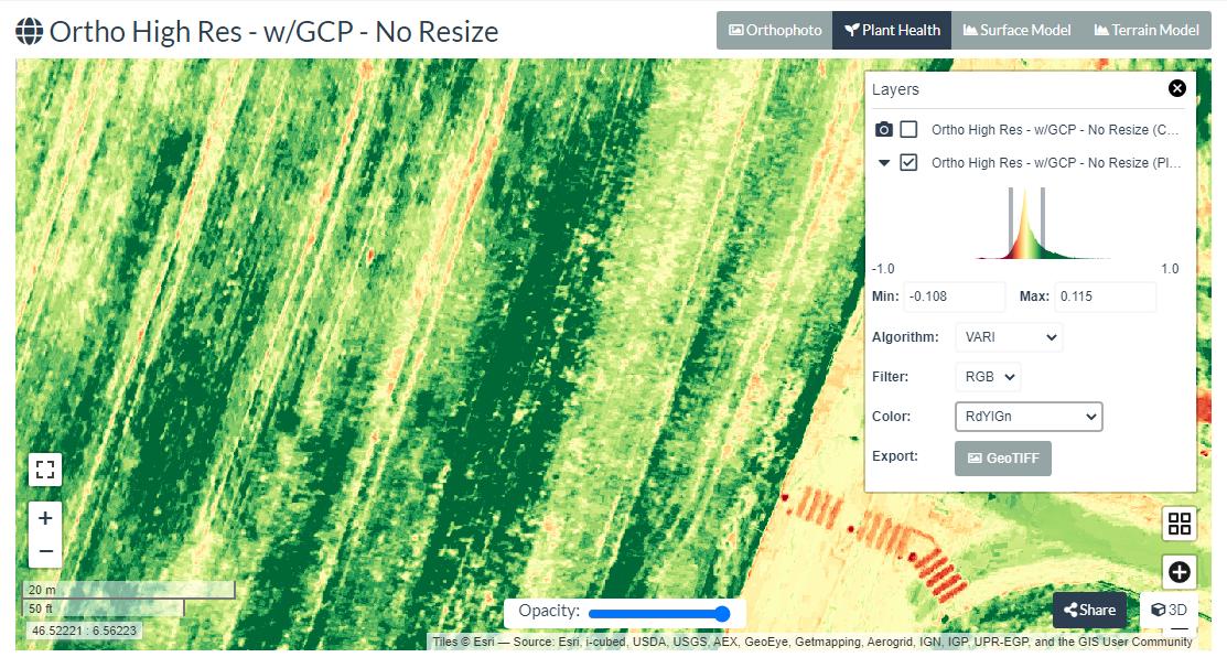 VARI in WebODM | Vegetation Management
