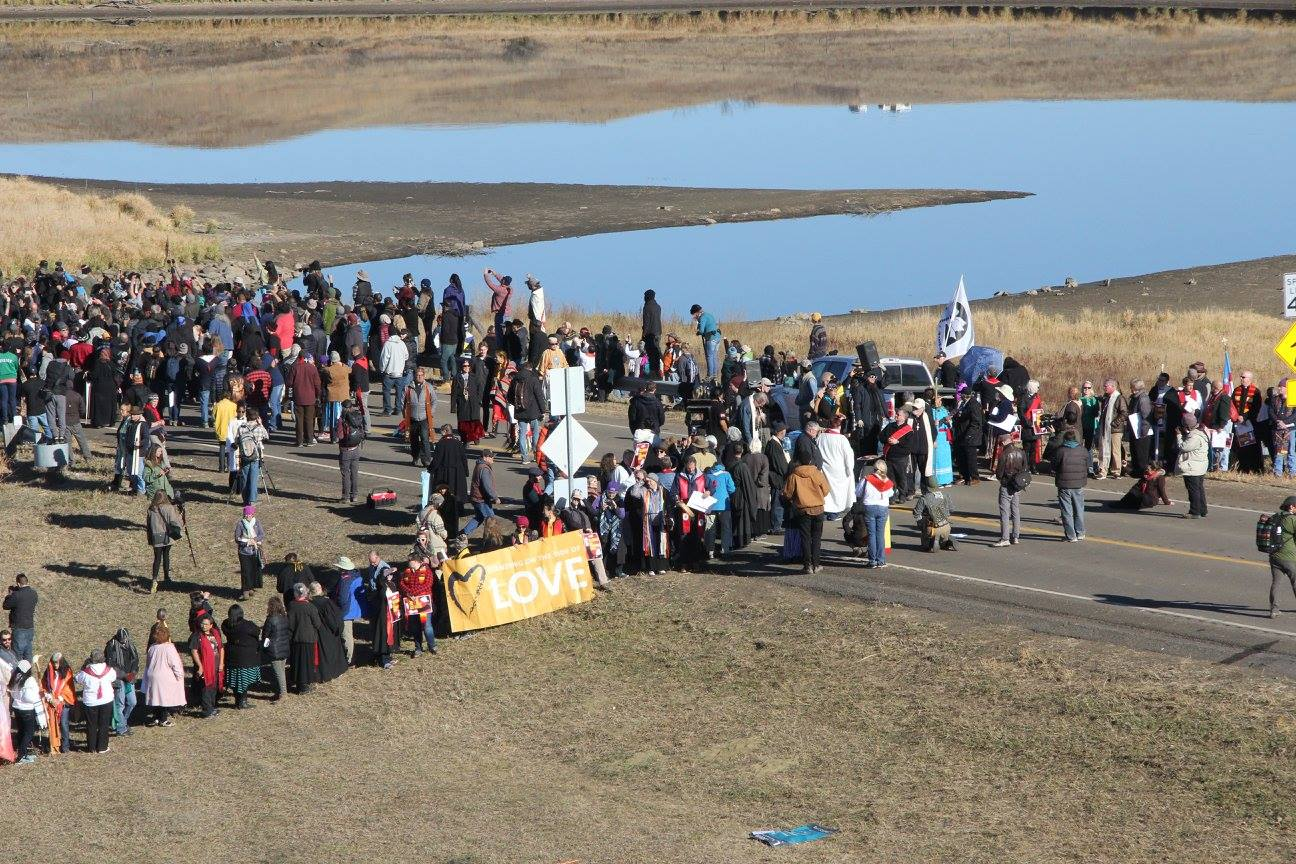More than 500 clergy gather in solidarity with the Water Protectors at Standing Rock, November 2016.