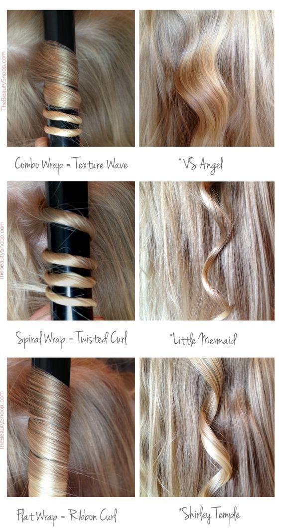 colocar el pelo en la tenacilla