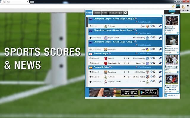 365Scores - Live Scores,Sports News & Alerts chrome extension