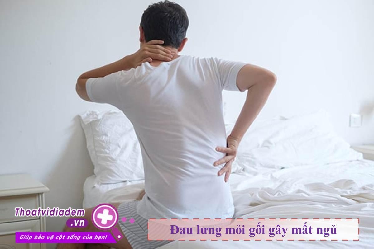 Đau lưng mỏi gối gây mất ngủ