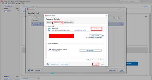 Quicken Error cc-892: deactivate account