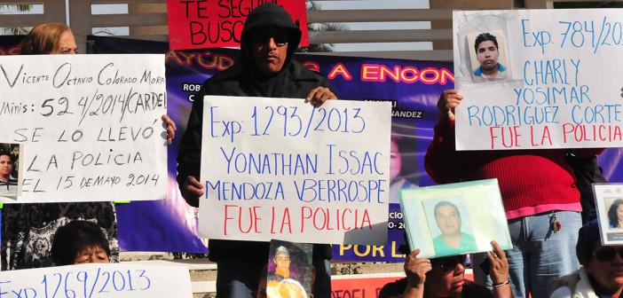 Familiares de desaparecidos protestan en Veracruz. Foto: Miguel Ángel Carmona