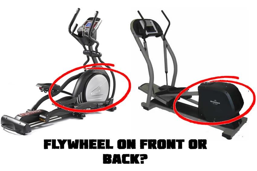 Front drive versus rear drive elliptical machine