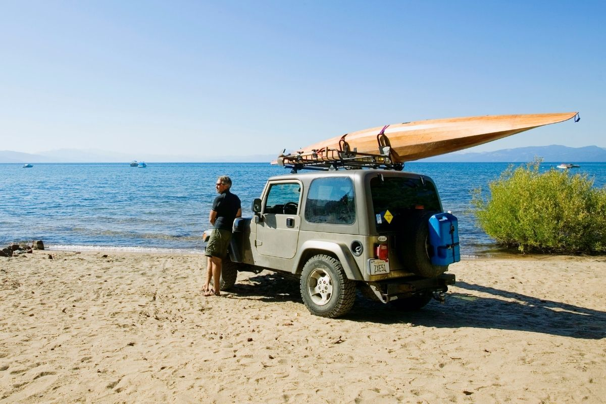 beach camp with kayak where will you take it