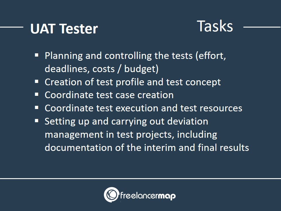 List of responsibilities and tasks of a UAT tester