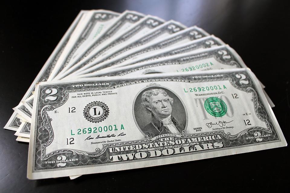 Money, Dollar, Cash, Two, Rare