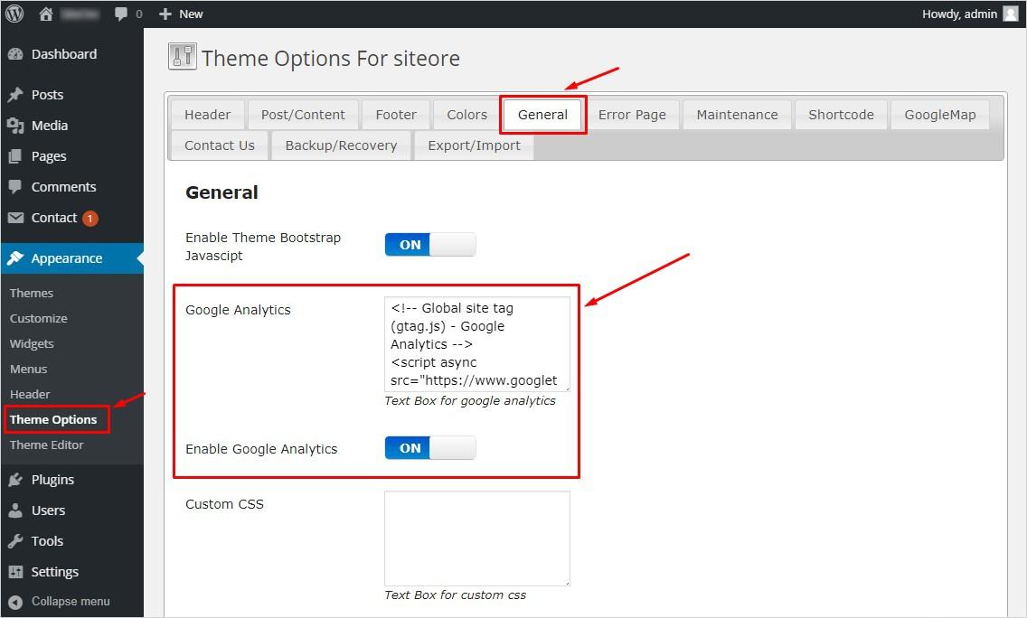 Thêm Google Analytics vào WordPress với TemplateToaster