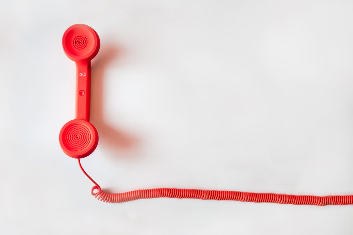 photo/marketing-office-working-business red telephone handset