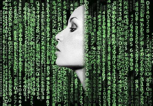 Woman, Code, Matrix, Ai, Artificial