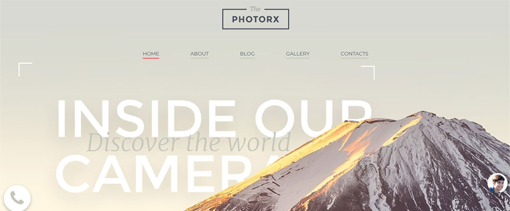 modelo de site responsivo the photorx
