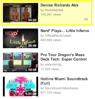 Example of YouTube Ads