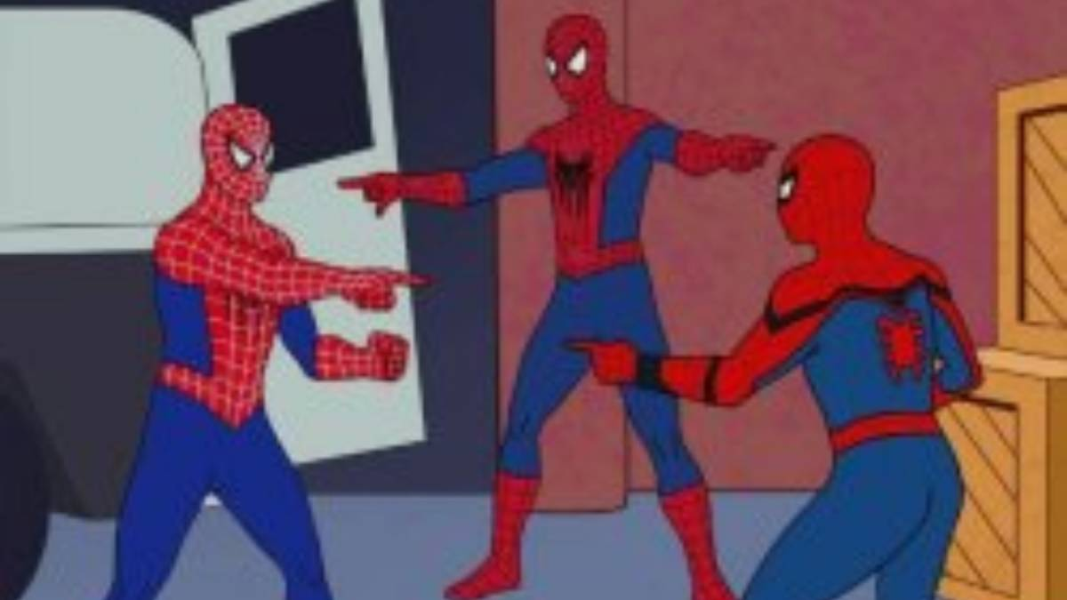 Different Docker options are all similar like spidermen pointing at each other on this image
