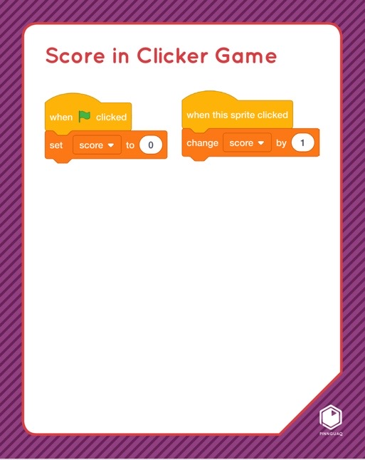 Score in Clicker Game Scratch card