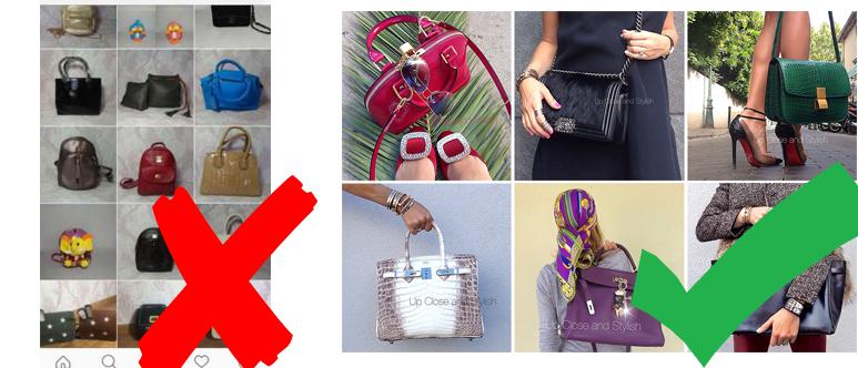 Примеры плохого и хорошего оформления аккаунта Instagram