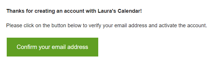 print screen of the email received by event submitters to verify their email address