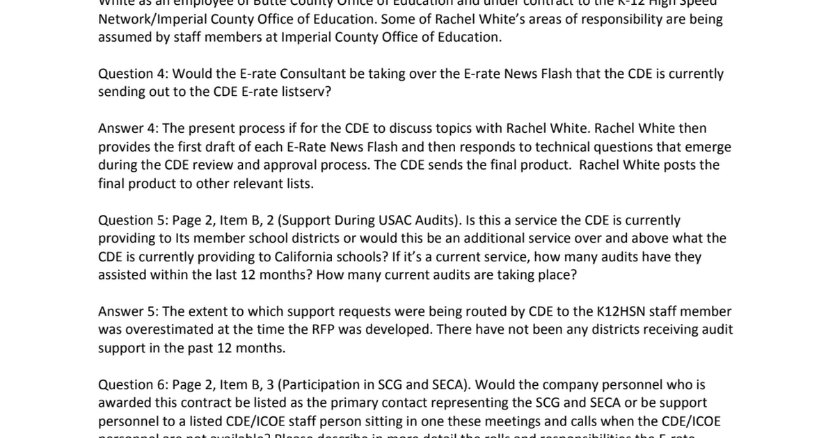Erate Support Services RFP QandA pdf - Google Drive