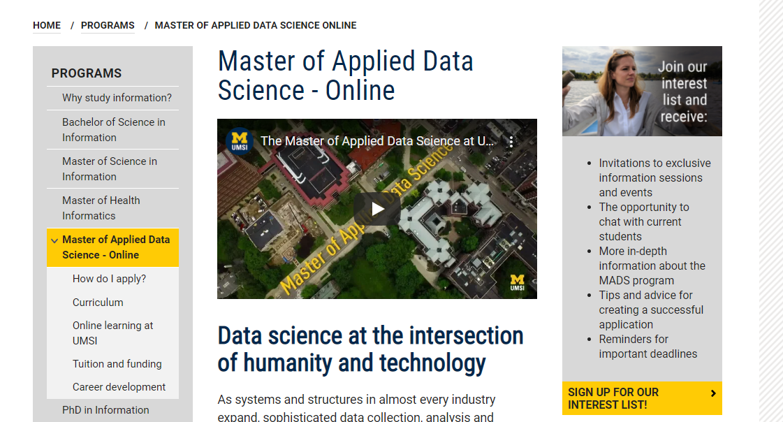 Master of Applied Data Science [University of Michigan]