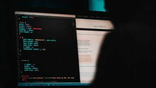 cyber hacker at computer