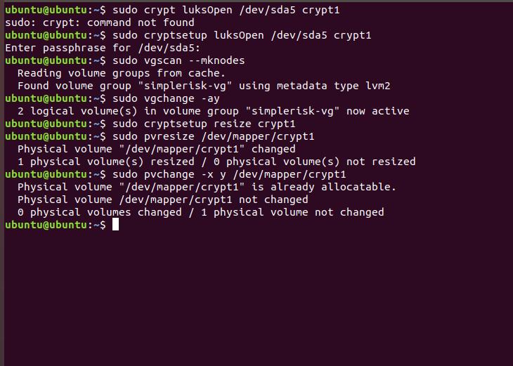 How do I Increase the SimpleRisk VM Size? (VirtualBox) :