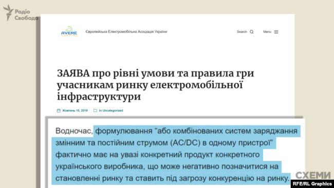 Із публічної заяви Європейської електромобільної асоціації України