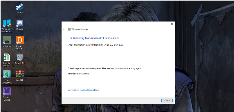 Can't update Windows Defender on Windows 10