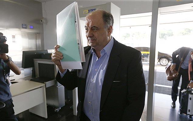 ilberto Mascarenhas chega ao TSE, em Brasília; ex-executivo da Odebrecht