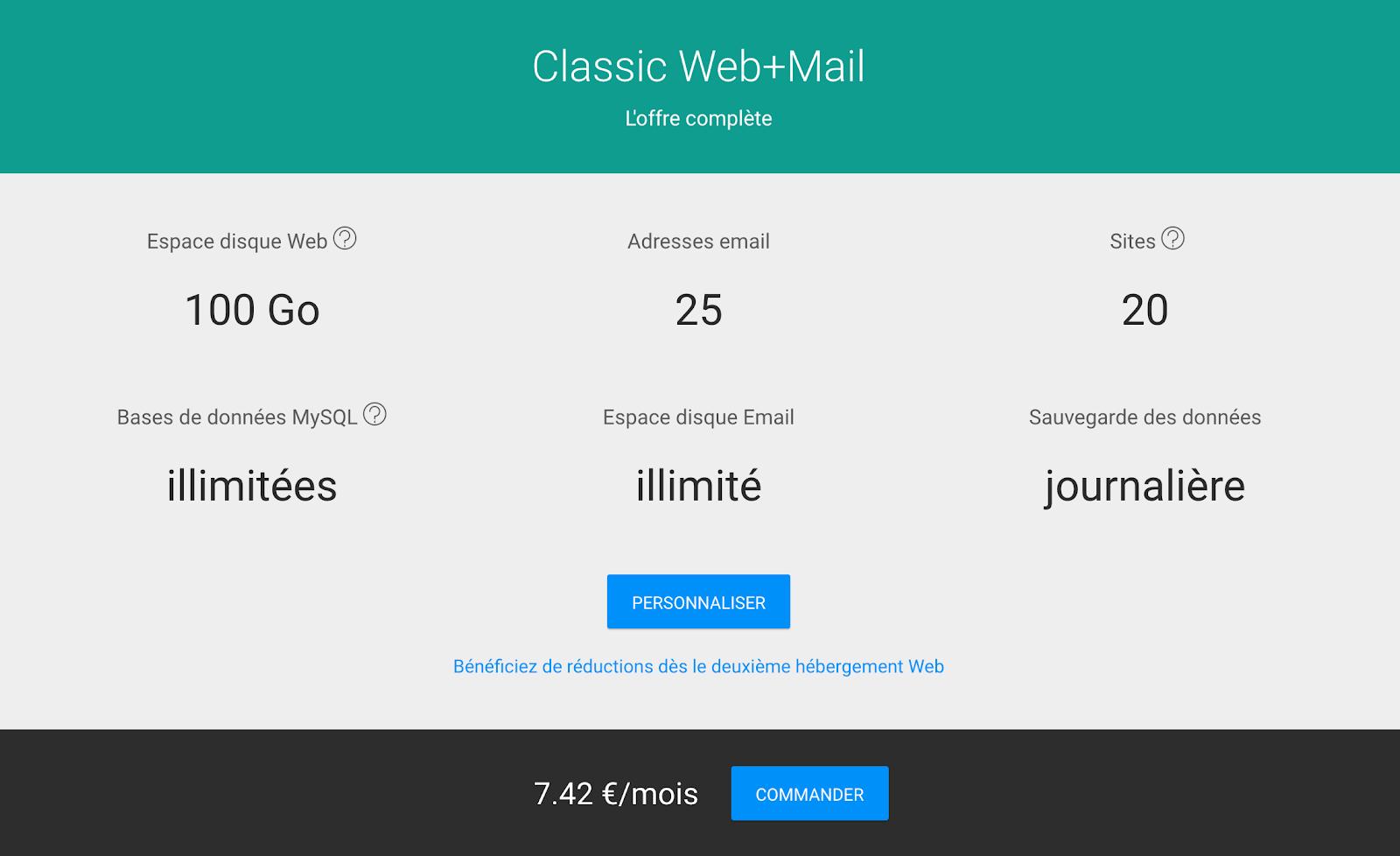 L'hébergement Web + Mail