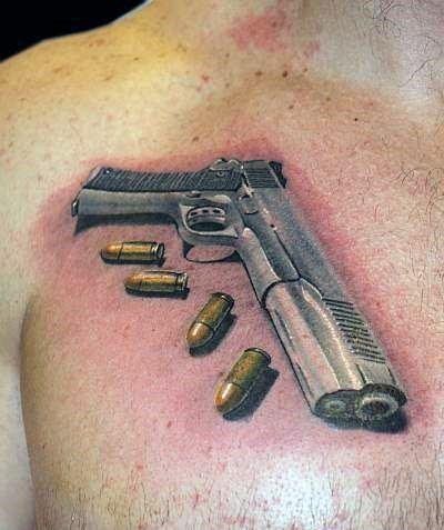 50 ลายสักกระสุนปืน เท่ห์ๆ หล่อจัด โหดจัด36
