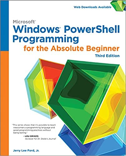 Windows PowerShell Programming for the Absolute Beginner book cover