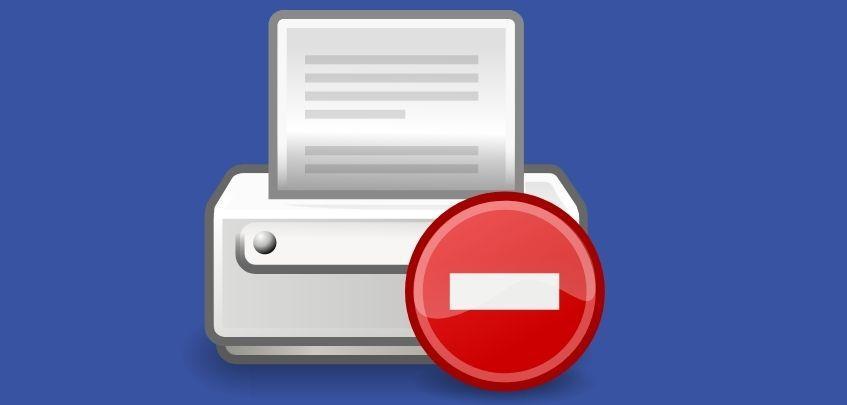 printer showing error