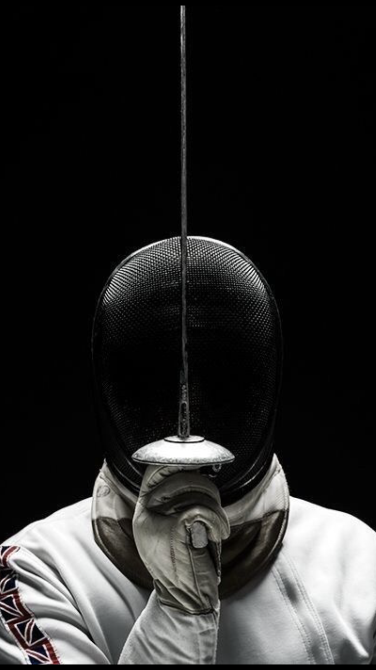 Smartphone fencing background - classic single fencer (post - 50+ Amazing Smartphone Fencing  Backgrounds)
