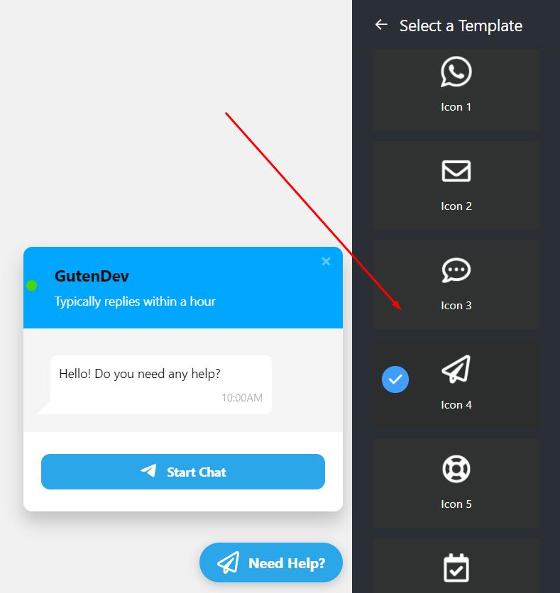 Bubble icon types