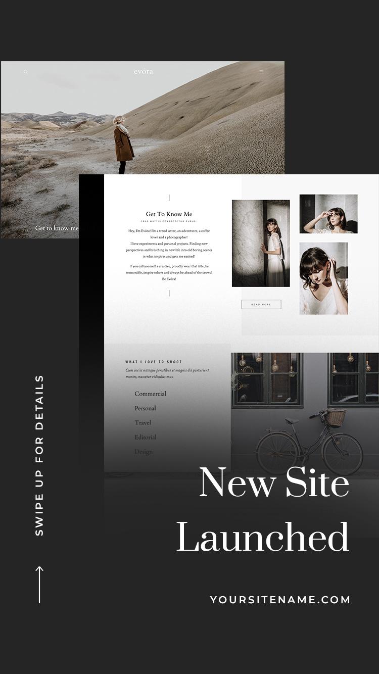 Flothemes Website Announcement Dark Instagram Stories Templates