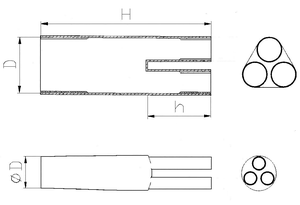 Термоусаживаемые перчатки СВ-3