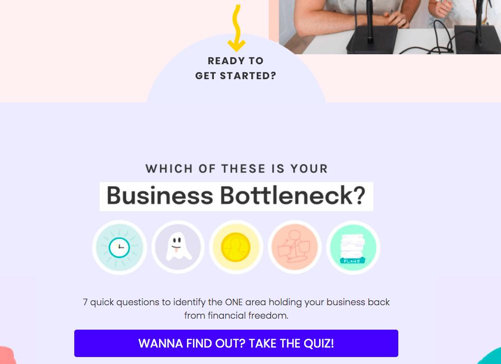 promoting quiz on website