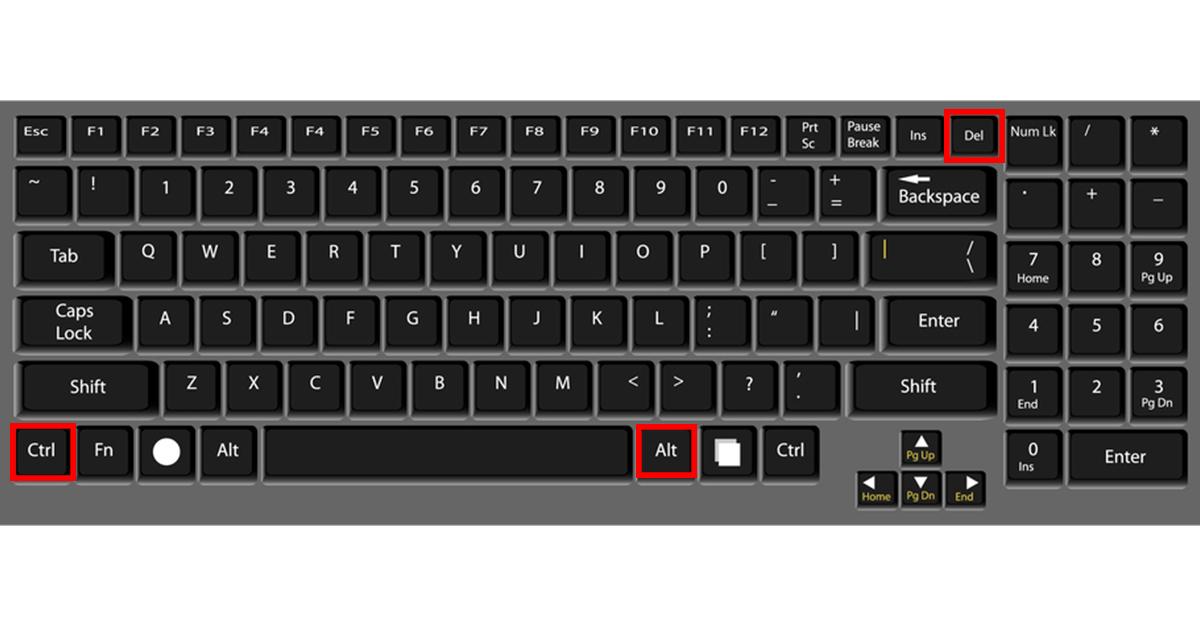 cách sử dụng tổ hợp phím khi máy bị đơ