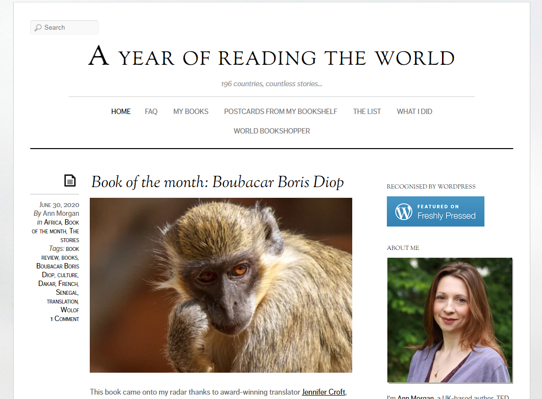 A Year of Reading the World homepage