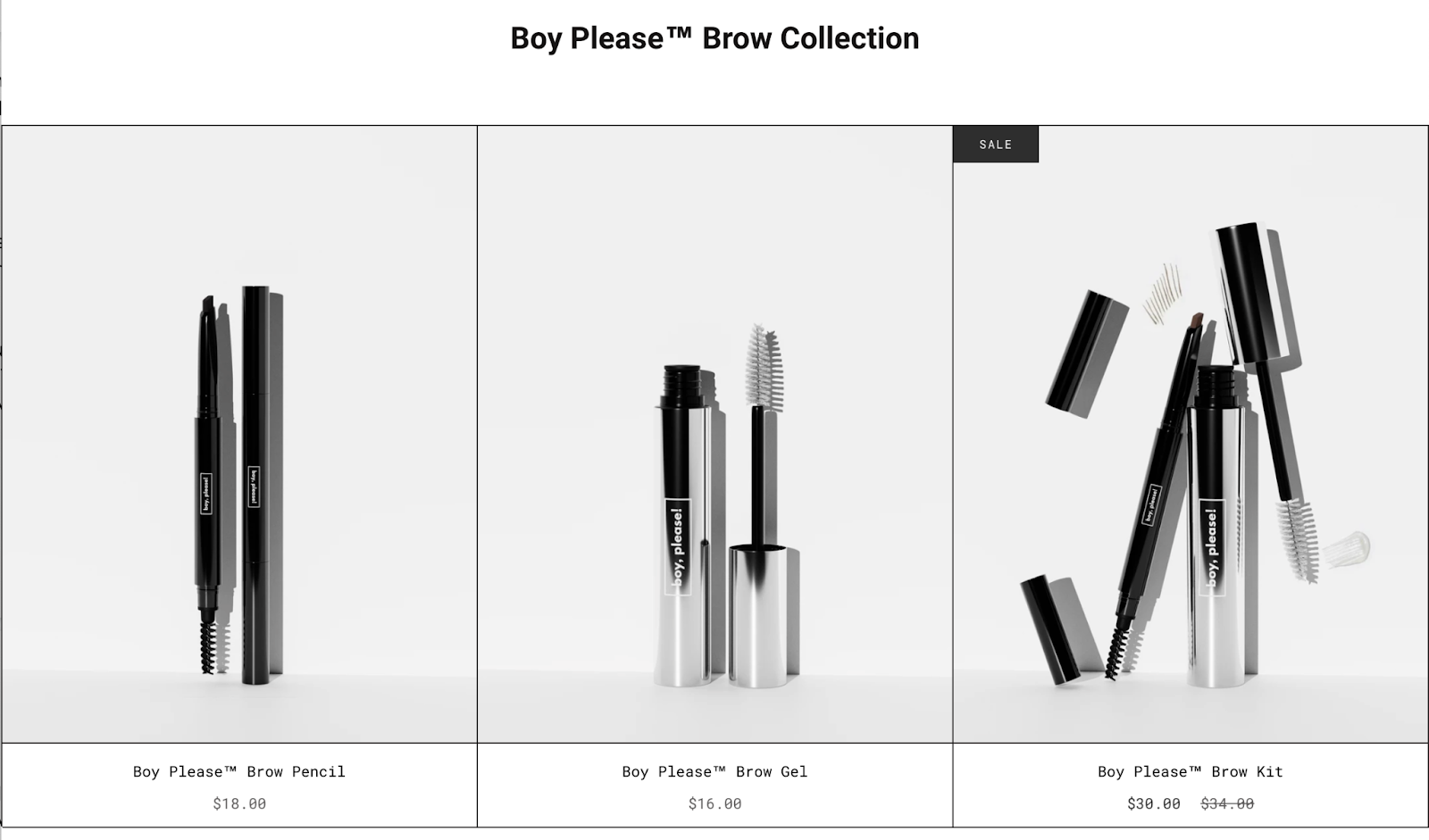 Boy, please! released their brow line for men.