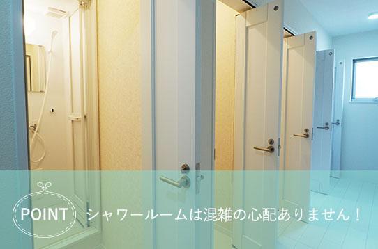 ドアの横のシャワー室  中程度の精度で自動的に生成された説明