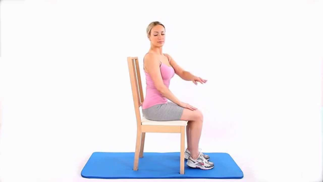 How to do a chair rotation to improve back mobility - YouTube