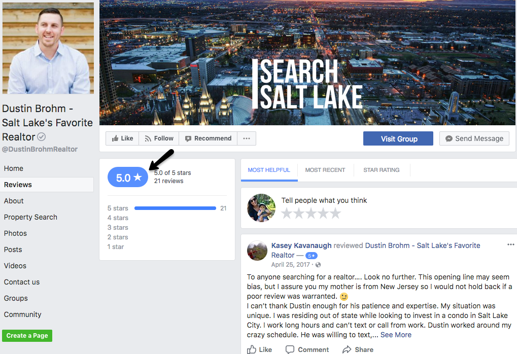 facebook real estate review