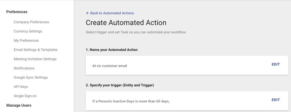 created automated actions in copper crm to notify your team if a customer is at risk of churning.