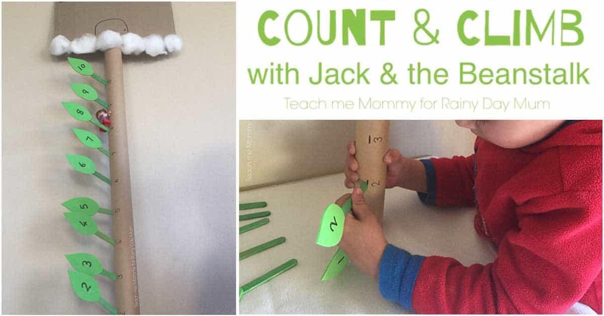Count and Climb Maths Activity for Jack and the Beanstalk