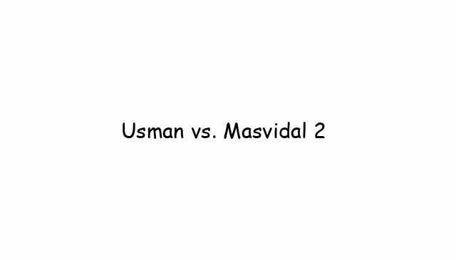 UFC 261: Usman vs. Masvidal 2